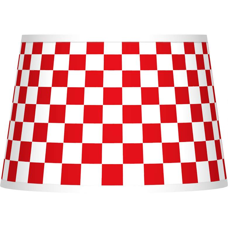 Checkered Red Tapered Shade 13x16x10.5 (Spider)