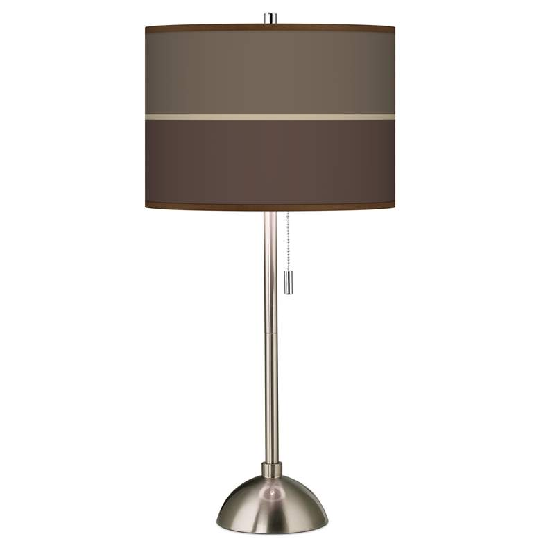 Lakebed Set Giclee Brushed Nickel Table Lamp