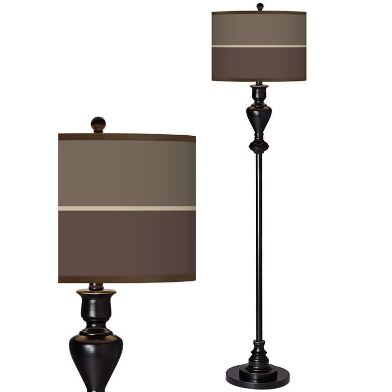 Lakebed Set Giclee Glow Black Bronze Floor Lamp