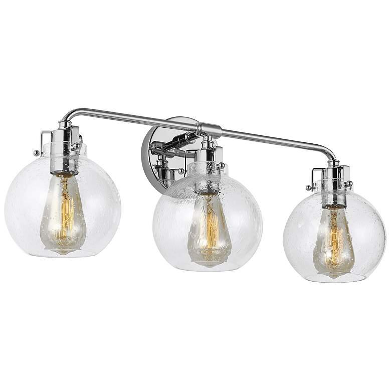 """Feiss Clara 24"""" Wide Chrome 3-Light Bath Light"""