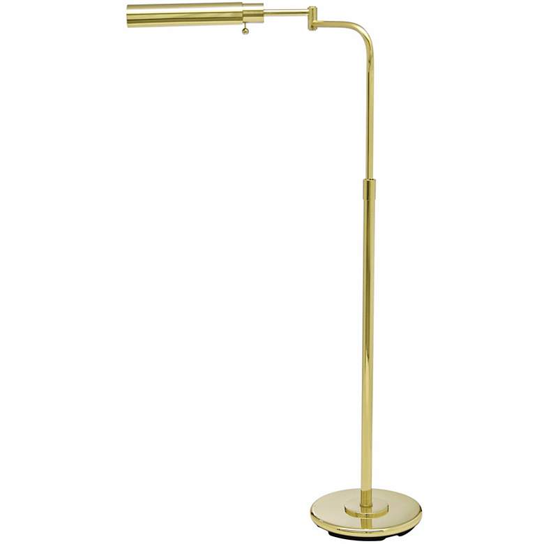 House of Troy Swingarm Pharmacy Polished Brass Floor  Lamp