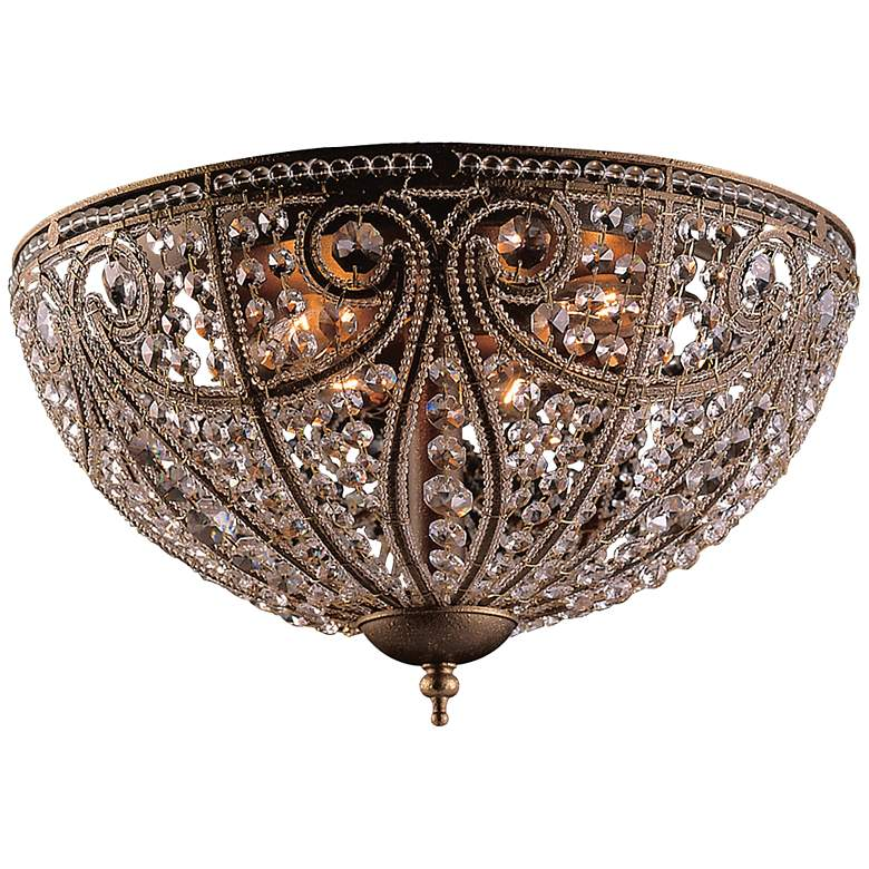 "Elizabethan Collection 17"" Wide Bronze Ceiling Light Fixture"