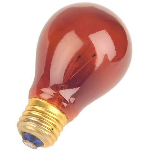Red 25 Watt Medium Base Party Light Bulb