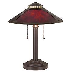 """Mica Collection 18 1/2"""" High Mission-Style Desk Accent Lamp"""