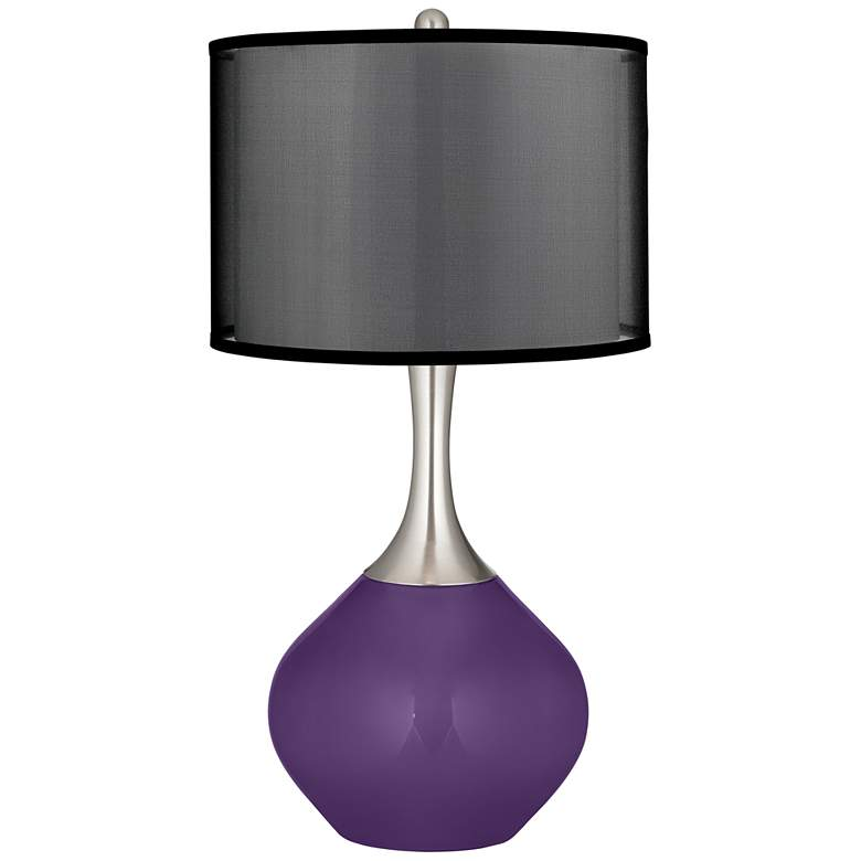 Acai Spencer Table Lamp with Organza Black Shade