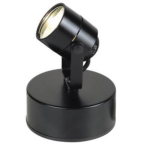 Mini Accent Uplight in Black with Halogen Bulb