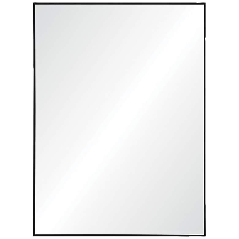 """Rosanna Matte Black Iron 30"""" x 40"""" Rectangular Wall Mirror"""