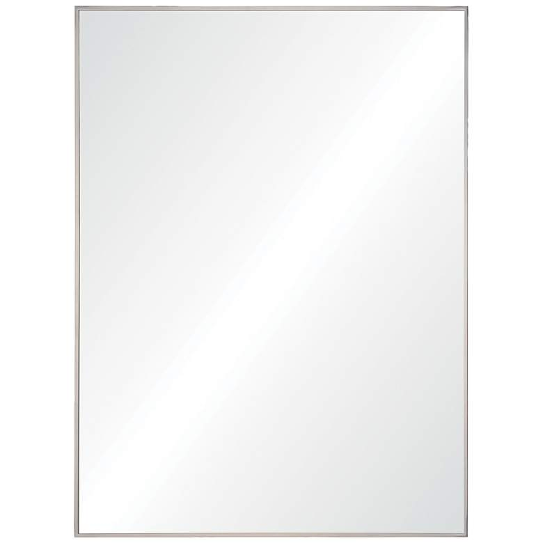 """Fiorelle Polished Stainless Steel 30"""" x 40"""" Wall Mirror"""