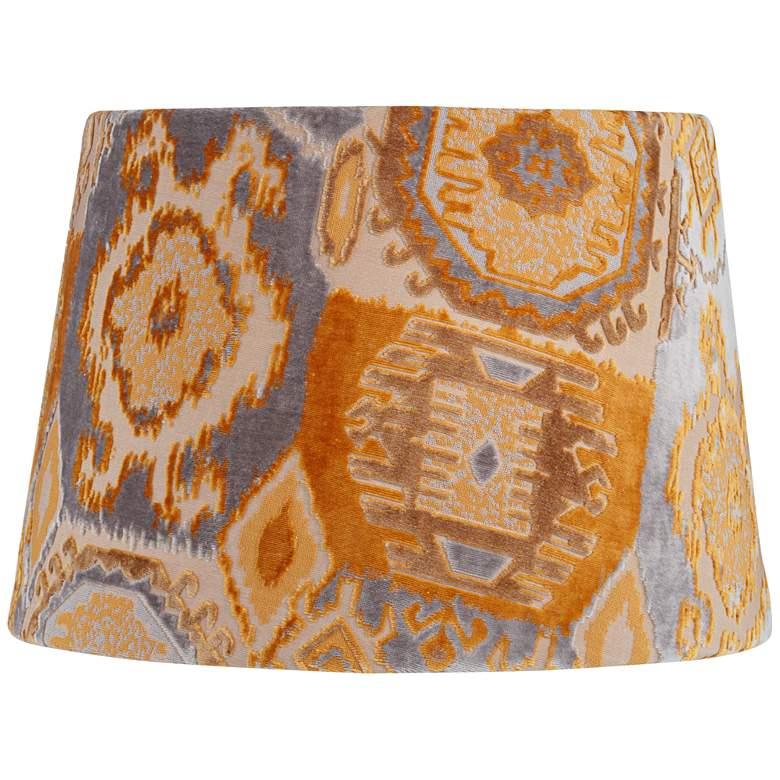 Orange Velvet Print Empire Lamp Shade 13x16x11 (Spider)