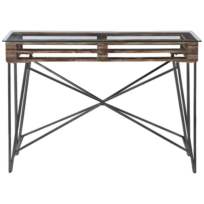 "Uttermost Ryne 51 3/4"" Wide Distressed Wood Console Table"