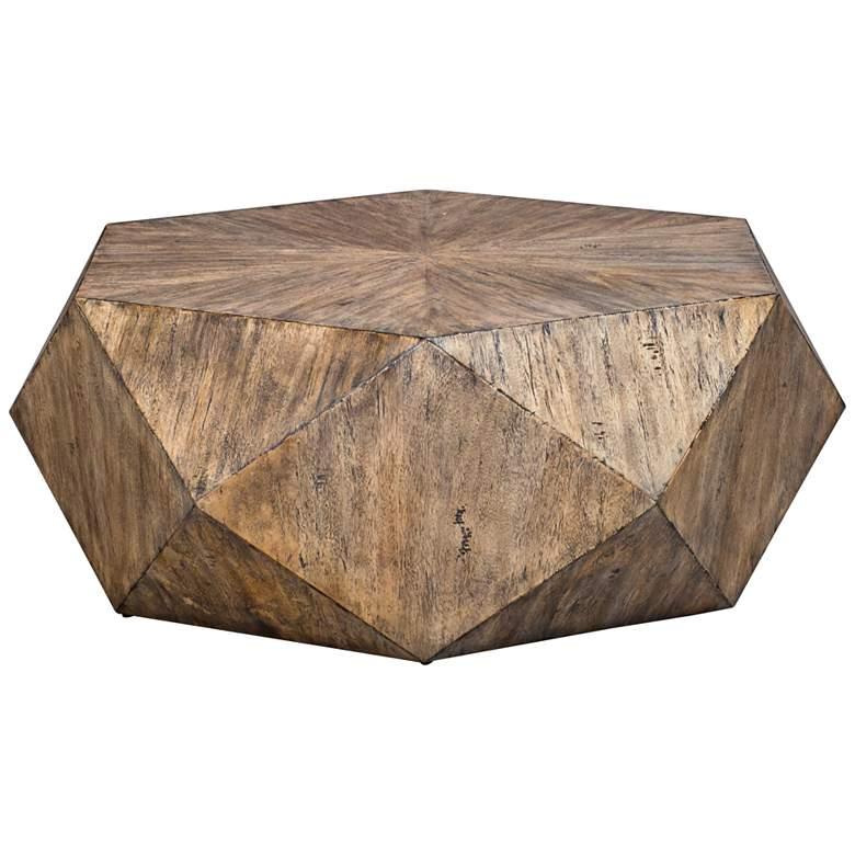 "Uttermost Volker 48"" Wide Geometric Large Modern Coffee Table"