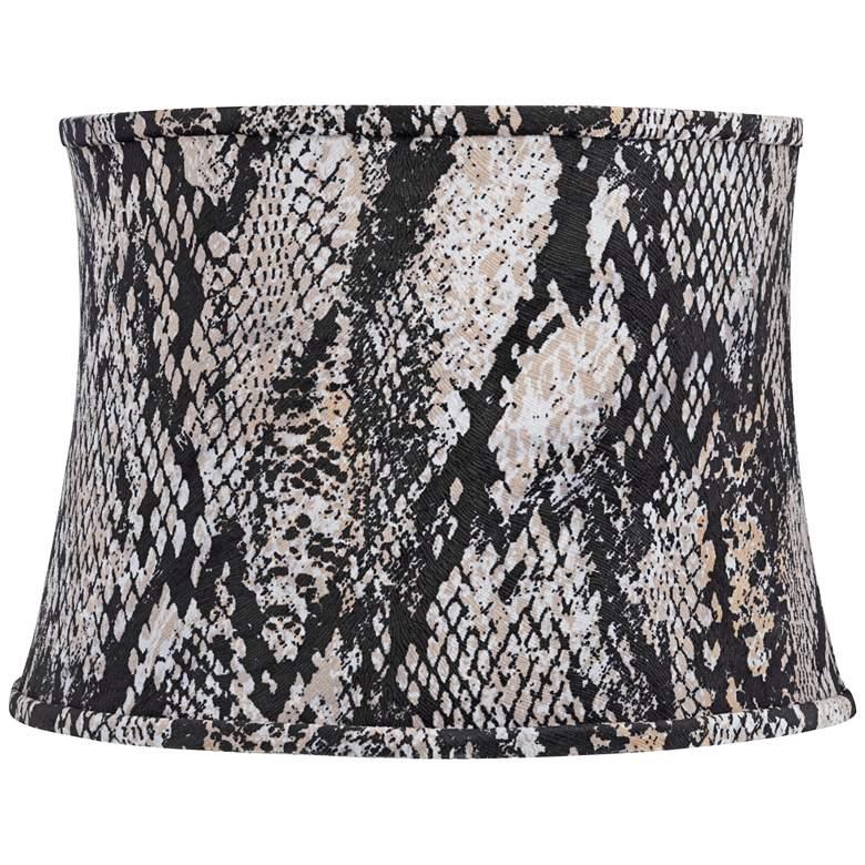 Black Velvet Snake Skin Drum Lamp Shade 14x16x11.5