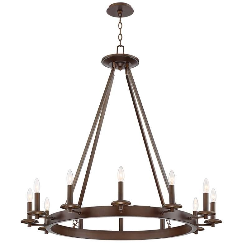 """Belmore 40"""" Wide Oil-Rubbed Bronze 12-Light Chandelier"""