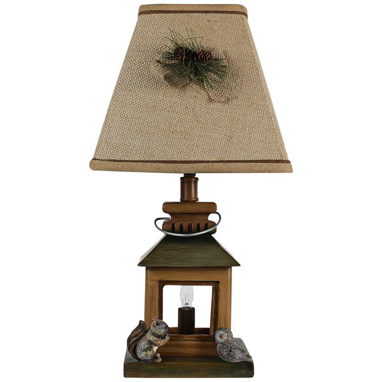 "Hoo's Home 18""H Brown Woodland Night Light Accent"