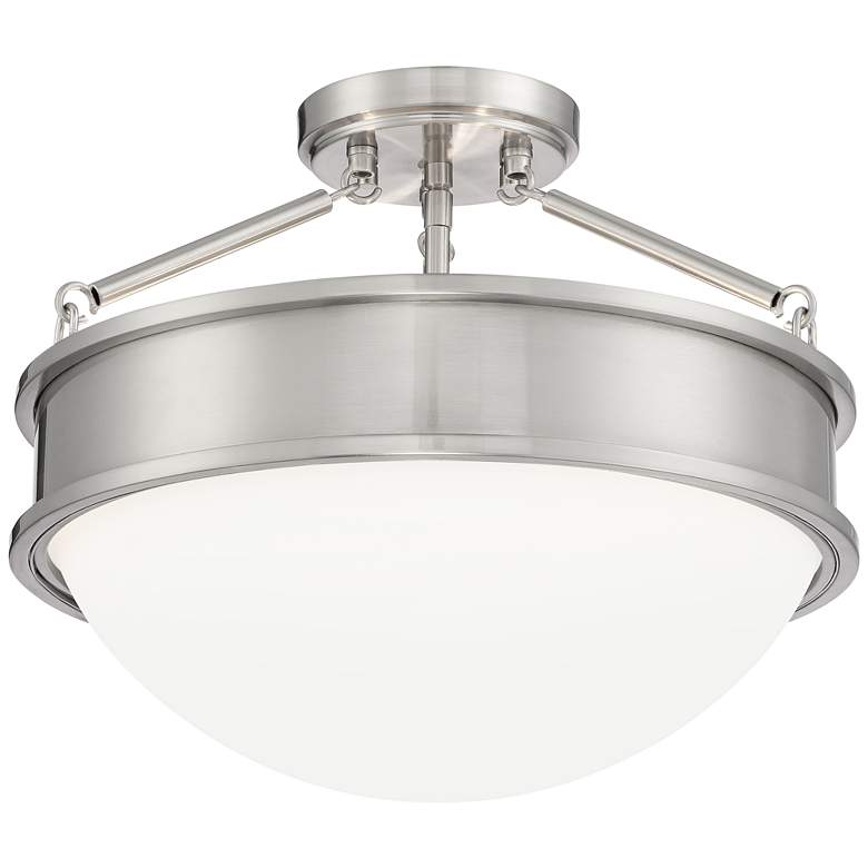 "Rory 16"" Wide Brushed Nickel Bowl Ceiling Light"