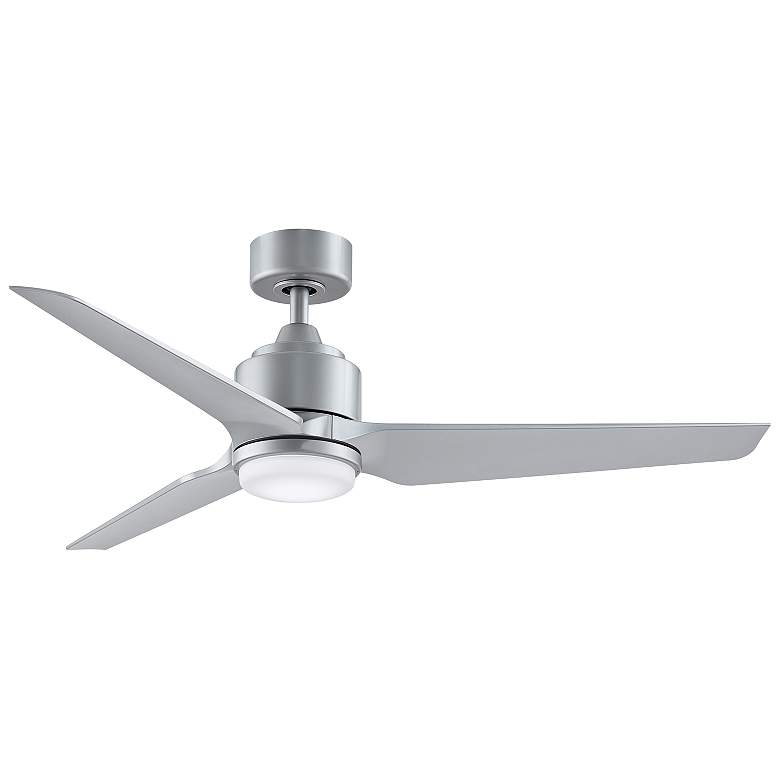 "52"" Fanimation TriAire Custom Silver Outdoor LED Ceiling Fan"