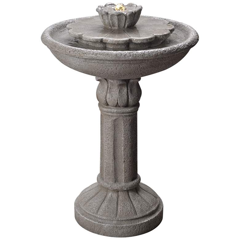 "Nymph 25 1/2"" High Weathered Stone Patio Bubbler Fountain"