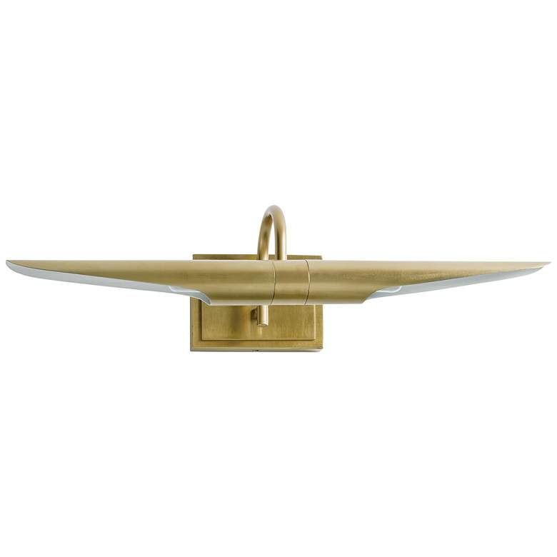 "Redford 22"" Wide Natural Brass 2-Light Picture Light"