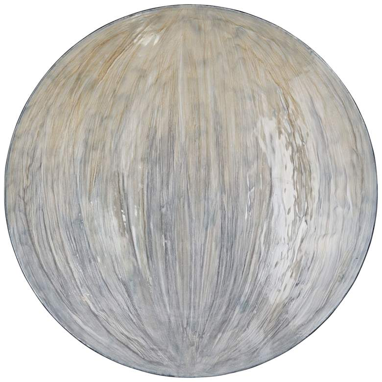 """Uttermost Tio 31"""" Round Gray and Yellow Disc Metal Wall Art"""