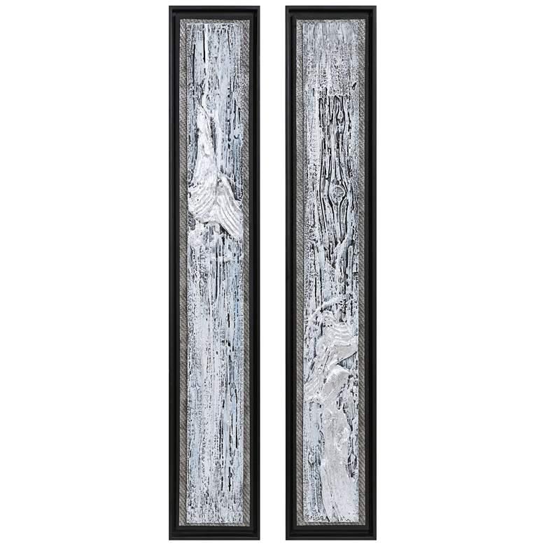 """Uttermost Silver Lining 46"""" High 2-Piece Canvas Wall Art Set"""