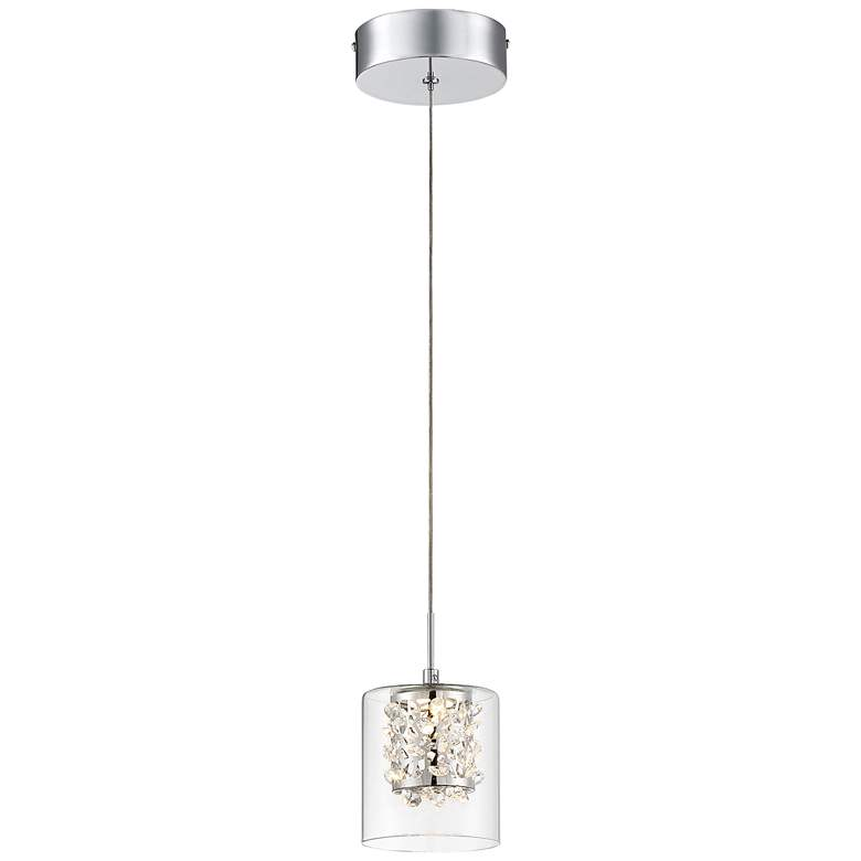 "George Kovacs Wild Gems 4 3/4"" Wide Chrome LED Mini Pendant"
