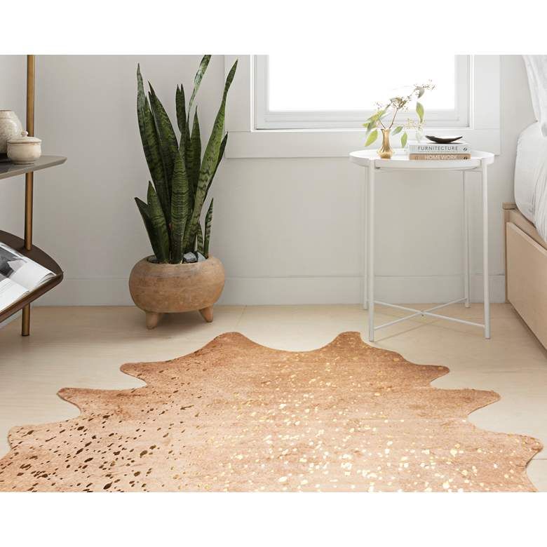 """Loloi Bryce BZ-05 5'x6'6"""" Tan and Gold Area Rug"""