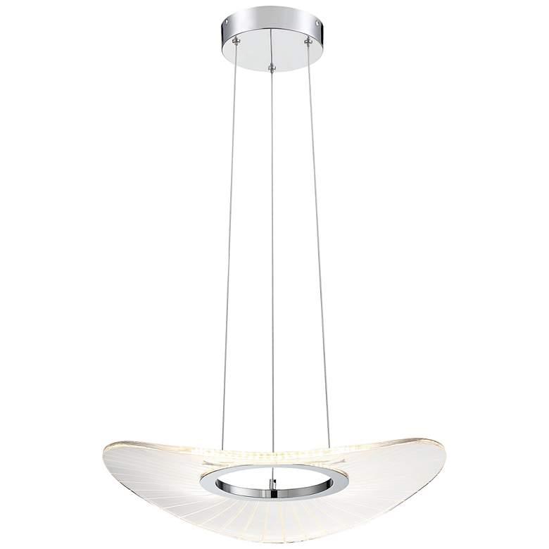 "Light Ray 19 3/4"" Wide Brushed Nickel LED Pendant Light"