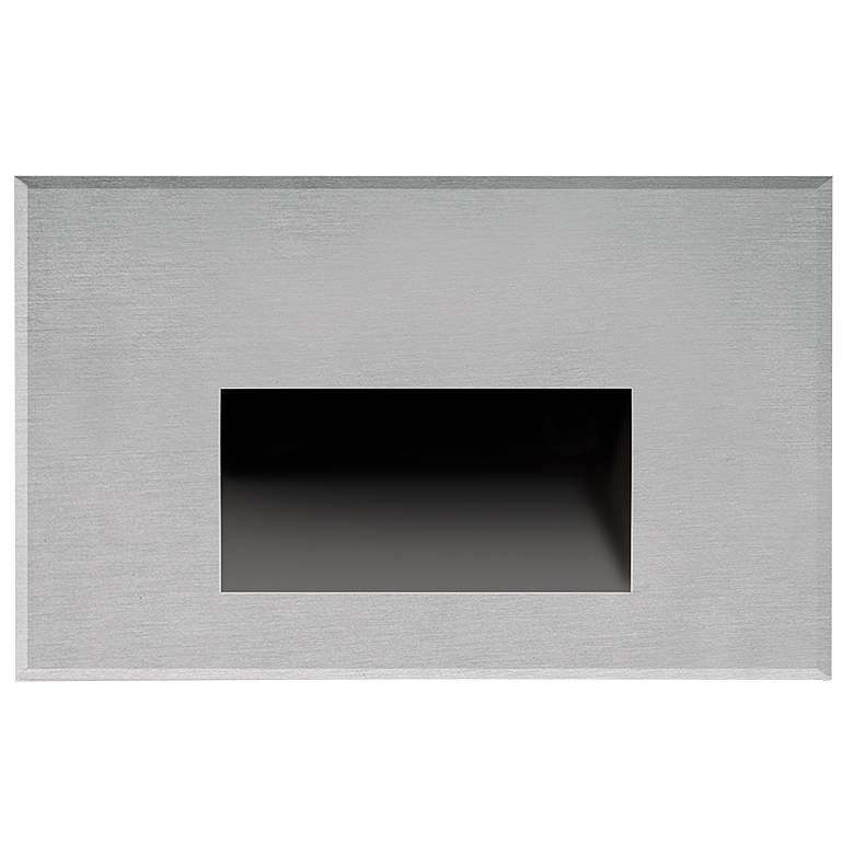 """Sonic 5"""" Wide Brushed Nickel LED Outdoor Recessed Step Light"""