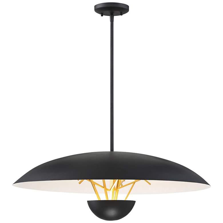"George Kovacs Sun Core 26"" Wide Sand Black LED Pendant Light"