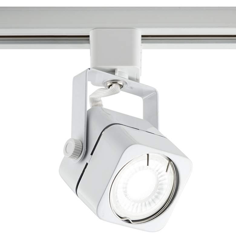 White Square 6.5 Watt LED Bullet Head for Juno Track System