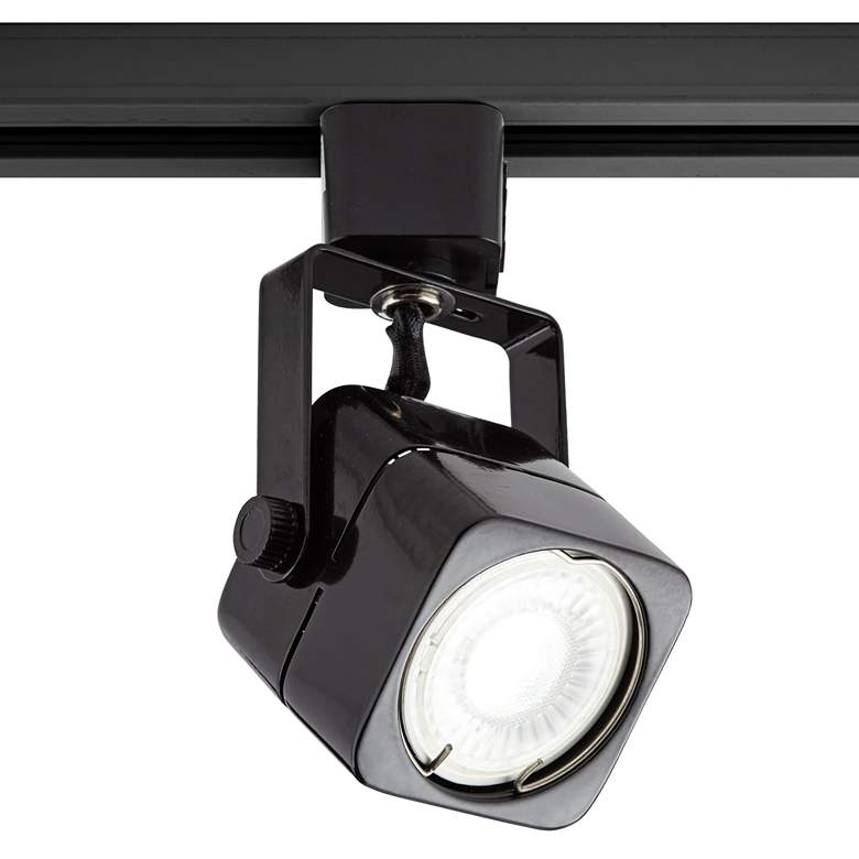 Black Square 6.5 Watt LED Bullet Head for Juno Track System