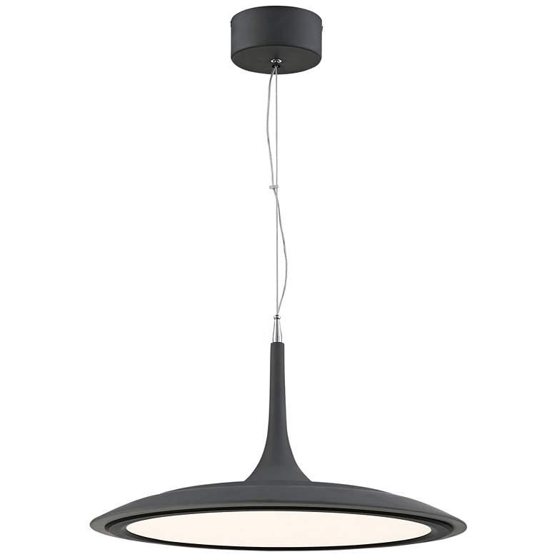"George Kovacs Hover 19"" Wide Dark Gray LED Pendant Light"