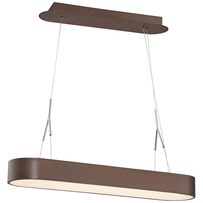"Step Up 33 1/2"" Wide Bronze LED Kitchen Island Light Pendant"