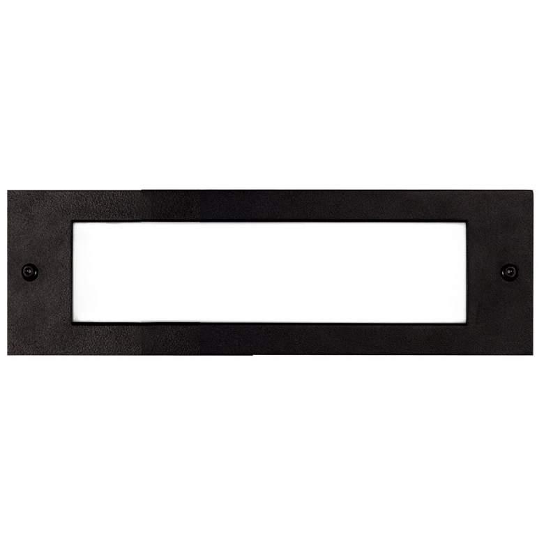 "Bristol 9 3/4"" Wide Black LED Outdoor Recessed Step Light"