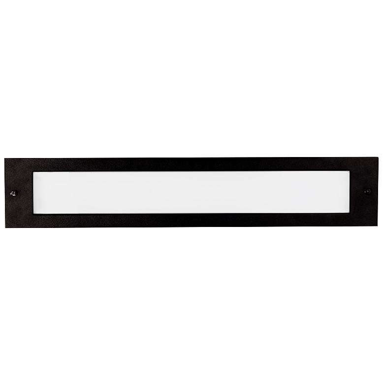 "Bristol 19 1/4"" Wide Black LED Outdoor Recessed Step Light"