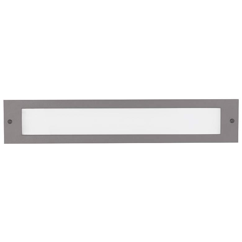 """Bristol 19 1/4"""" Wide Gray LED Outdoor Recessed Step Light"""