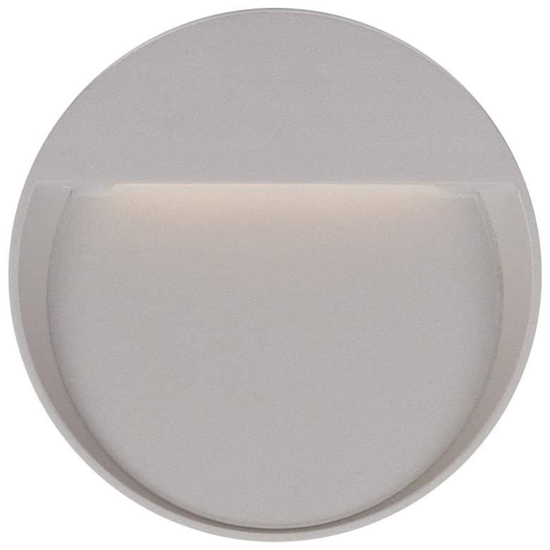 "Mesa 8 3/4"" Round Gray LED Outdoor Step Light"