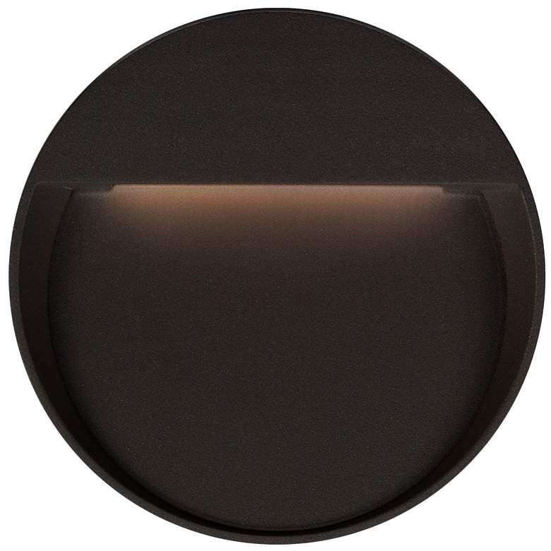 "Mesa 10 3/4"" Round Black LED Outdoor Step"