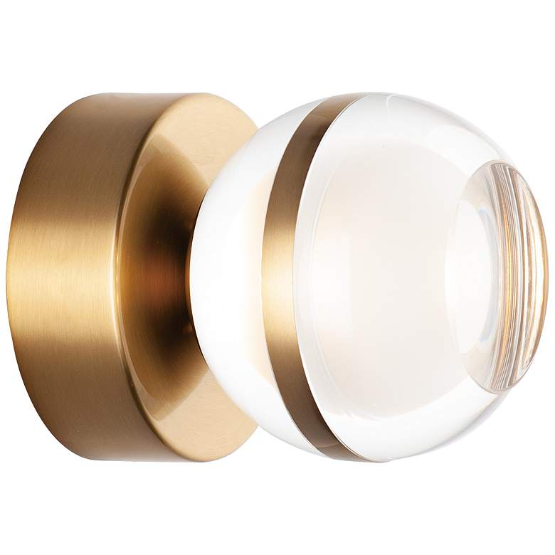 """ET2 Swank 4 3/4"""" High Natural Aged Brass LED Wall Sconce"""