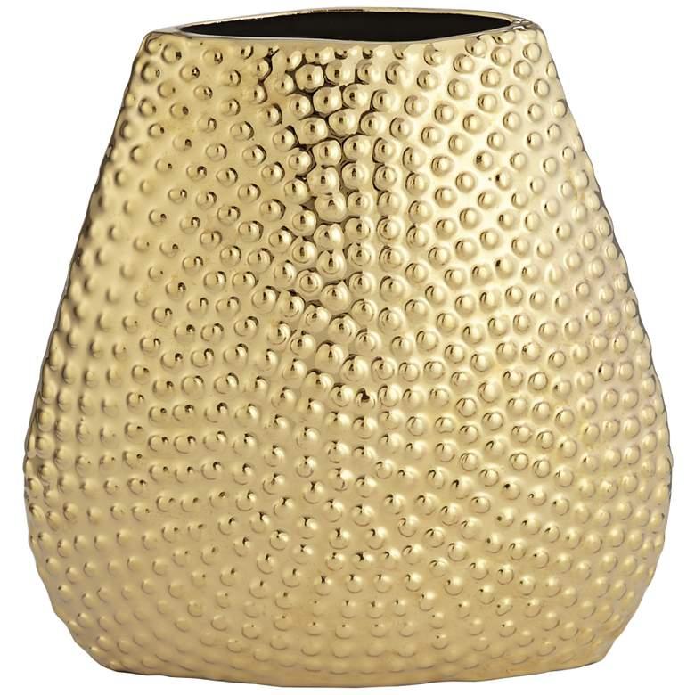 """Golden 9"""" High Ceramic Decorative Vase"""
