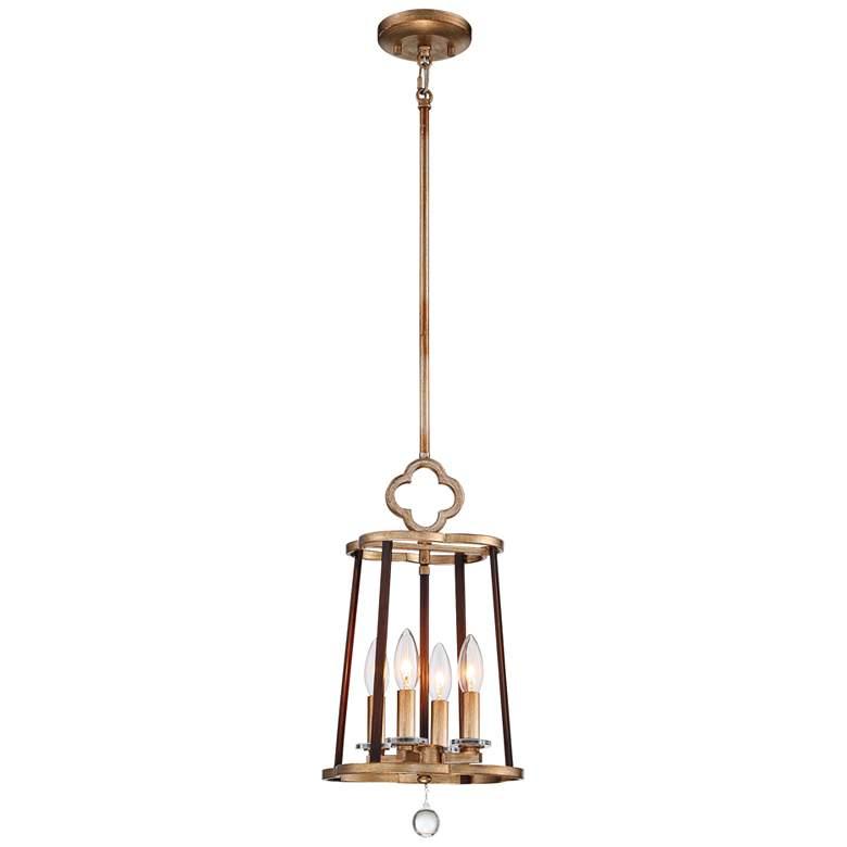 "Ava Libertine 10""W Gold w/ Bronze 4-Light Foyer Mini Pendant"