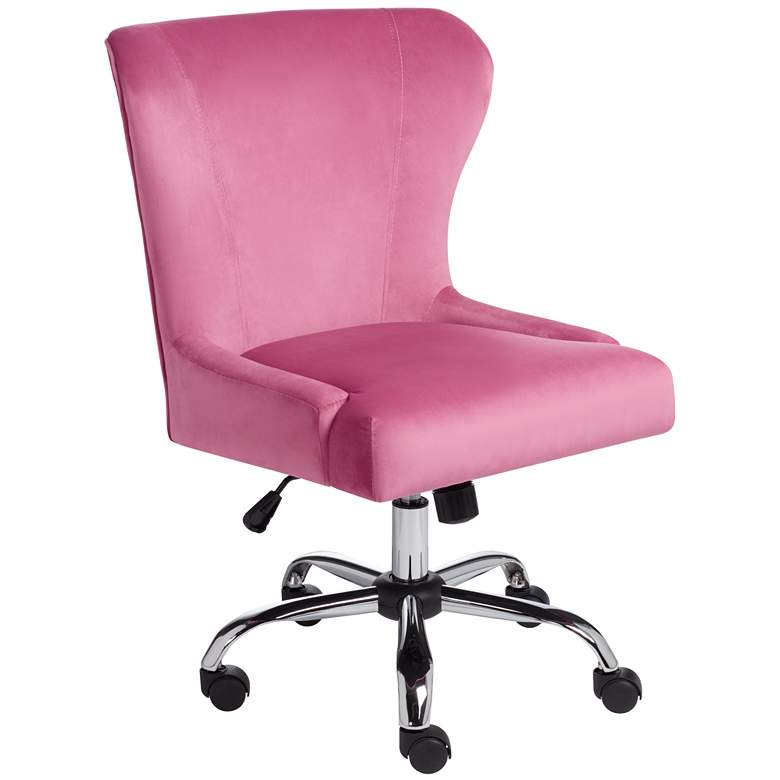 Erin Pink Fabric Adjustable Office Chair