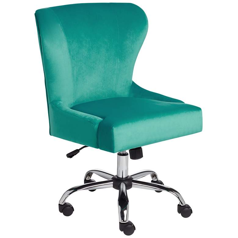 Erin Teal Fabric Adjustable Office Chair