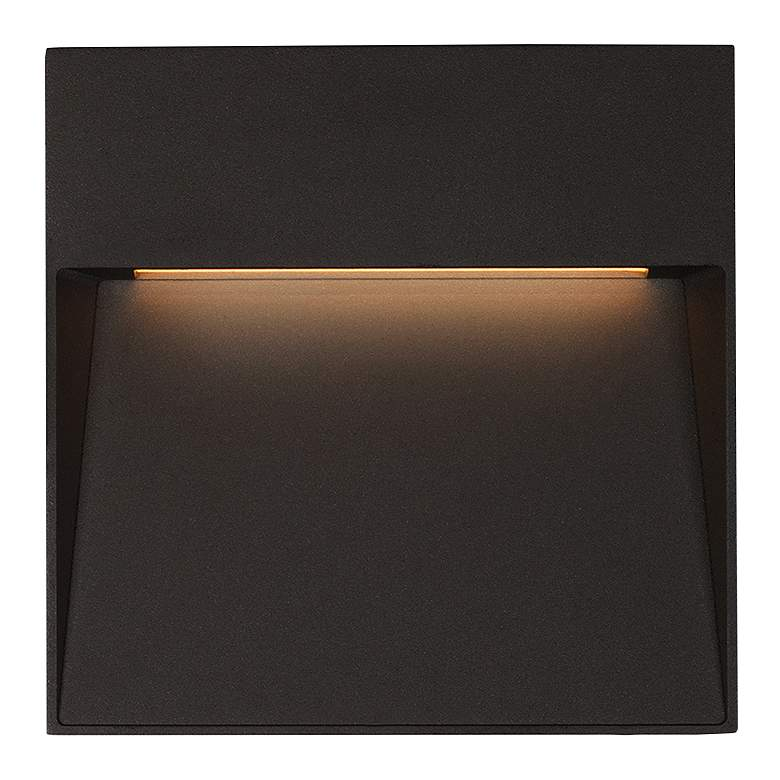 "Casa 4 1/2"" Square Black LED Outdoor Step"