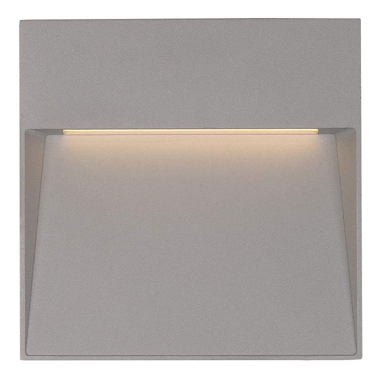 "Casa 4 1/2"" Square Gray LED Outdoor Step"