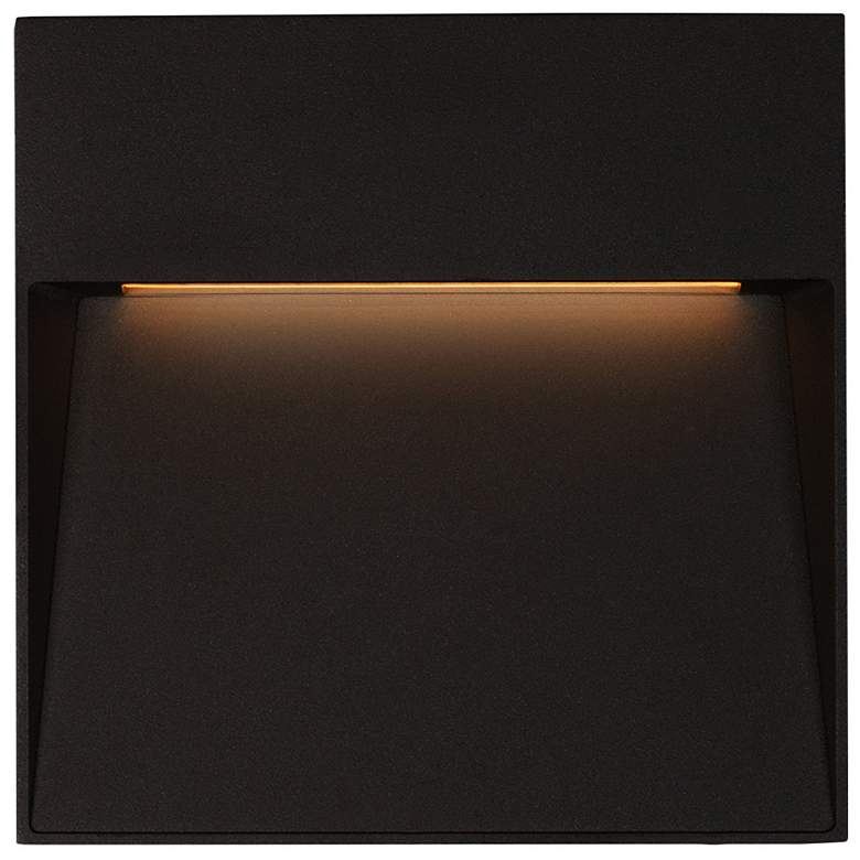 "Casa 6 3/4"" Square Black LED Outdoor Step"