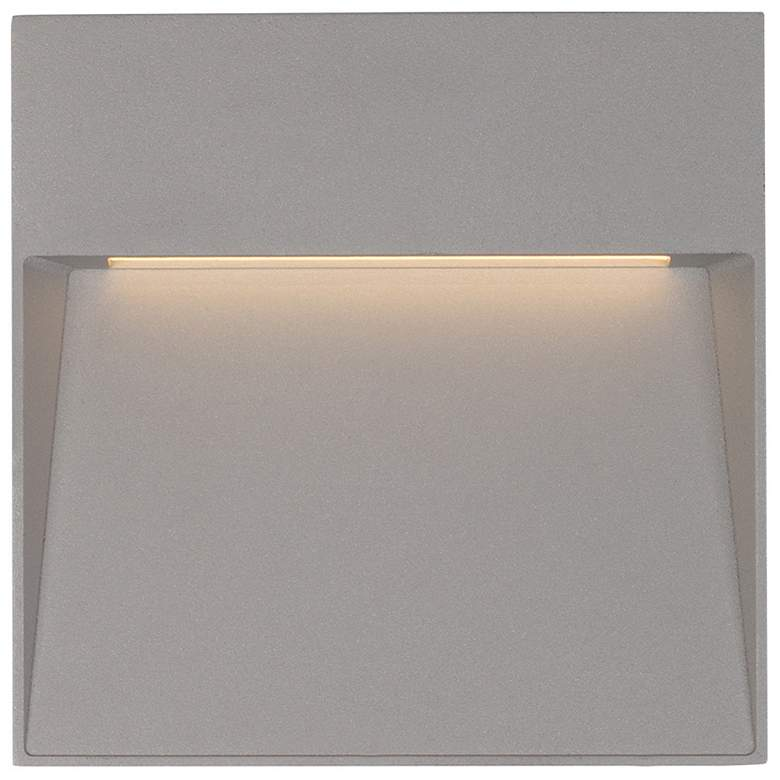 """Casa 6 3/4"""" Square Gray LED Outdoor Step"""