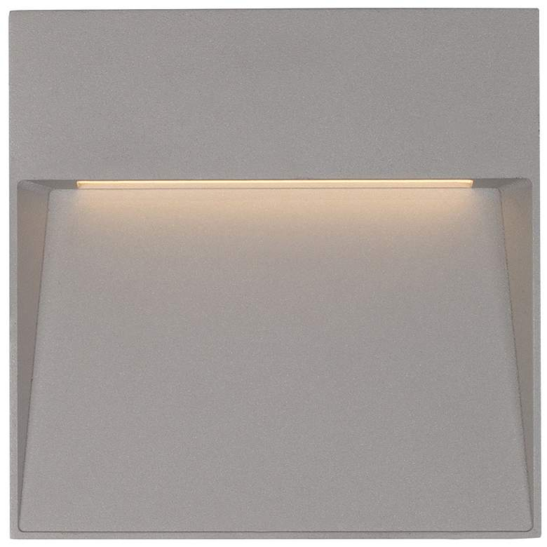 """Casa 8 1/4"""" Square Gray LED Outdoor Step"""