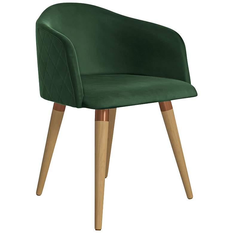 Kari Varnish Green Velvet Matelasse Accent Task Chair
