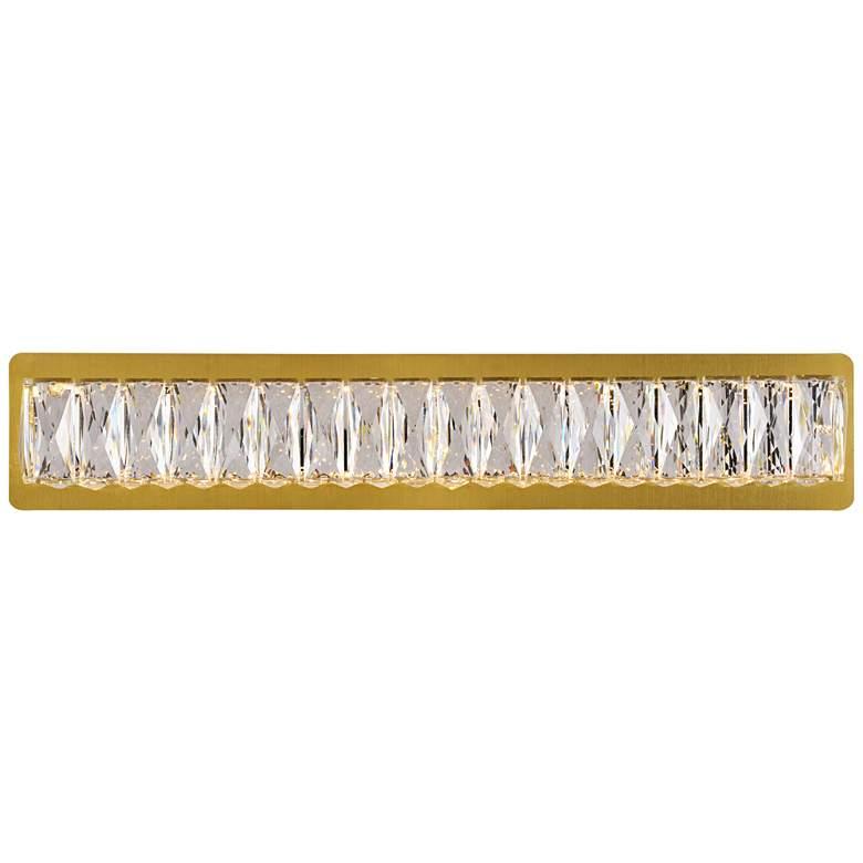 "Monroe 24 1/2"" Wide Gold and Crystal LED Bath Light"